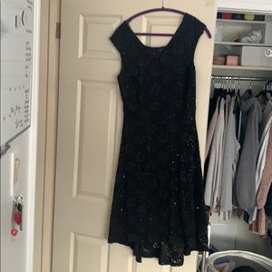 """Connected"" Sequin/Lace Dress"